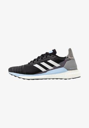 SOLAR GLIDE 19 - Obuwie do biegania treningowe - core black/grey one/glow blue