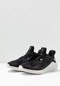 adidas Performance - ALPHABOUNCE PARLEY - Neutrální běžecké boty - core black/linen green/footwear white - 2