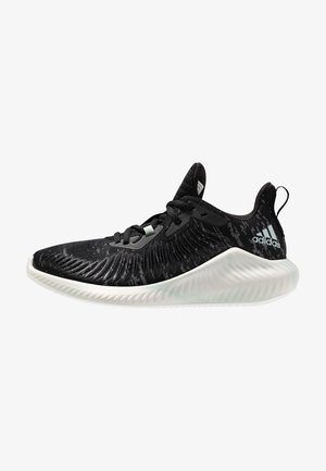 ALPHABOUNCE PARLEY - Zapatillas de running neutras - core black/linen green/footwear white