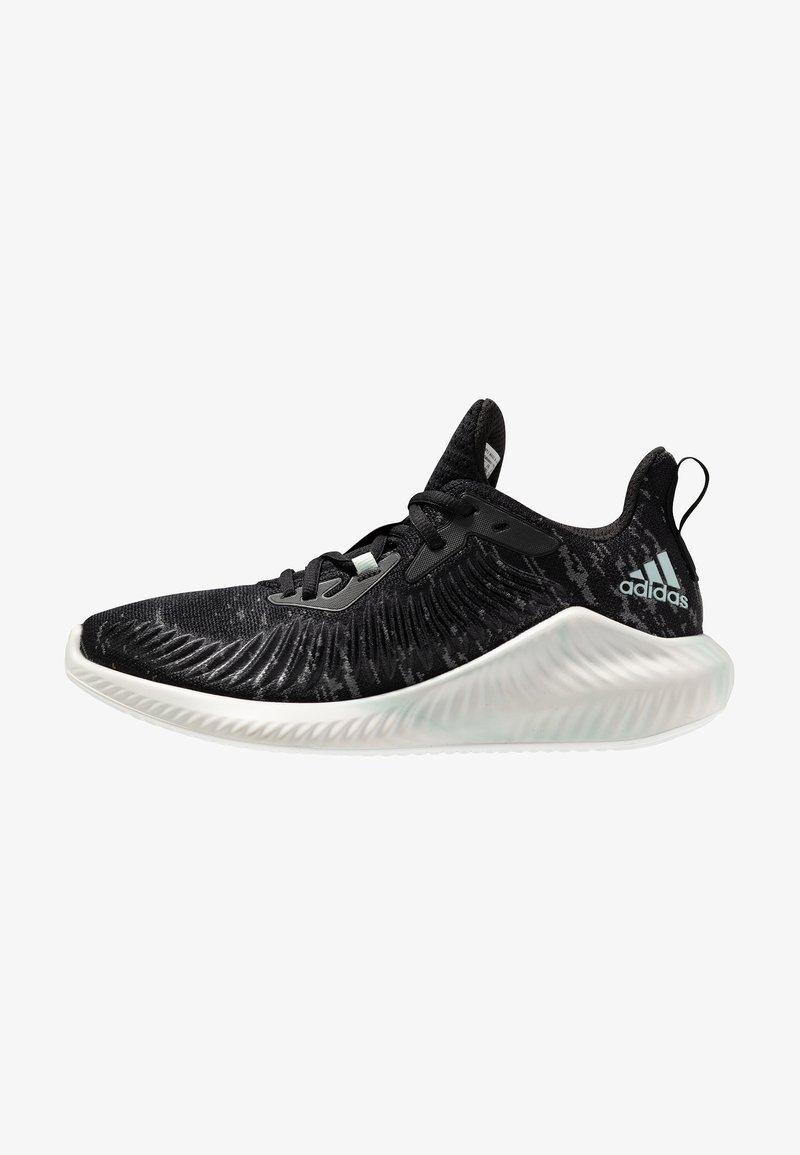 adidas Performance - ALPHABOUNCE PARLEY - Neutrální běžecké boty - core black/linen green/footwear white