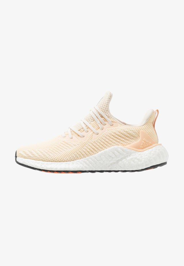 ALPHABOOST - Neutral running shoes - ecru tint/silver metallic/glow orange