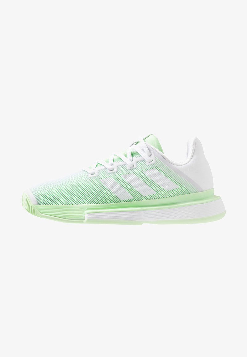 adidas Performance - SOLEMATCH BOUNCE - Chaussures de tennis toutes surfaces - footwear white/glow green