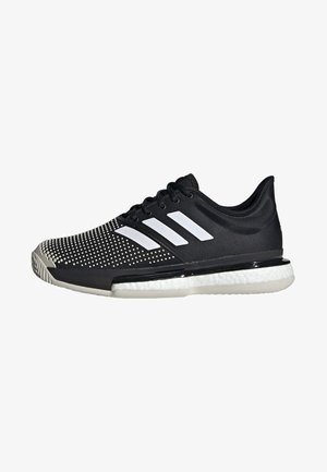 SOLECOURT BOOST CLAY SHOES - Tenisové boty na antuku - black/white