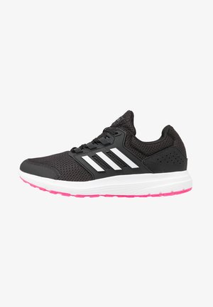GALAXY 4 - Neutral running shoes - core black/footwear white/shock pink