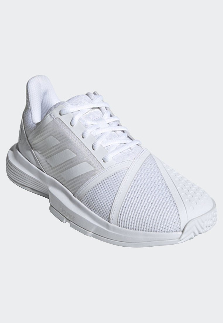 adidas Performance COURTJAM BOUNCE SHOES - da tennis per terra battuta - white/silver