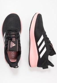 adidas Performance - SENSEBOUNCE + STREET - Neutral running shoes - core black/footwear white/glow pink - 1
