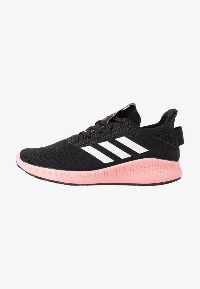 SENSEBOUNCE + STREET - Neutral running shoes - core black/footwear white/glow pink