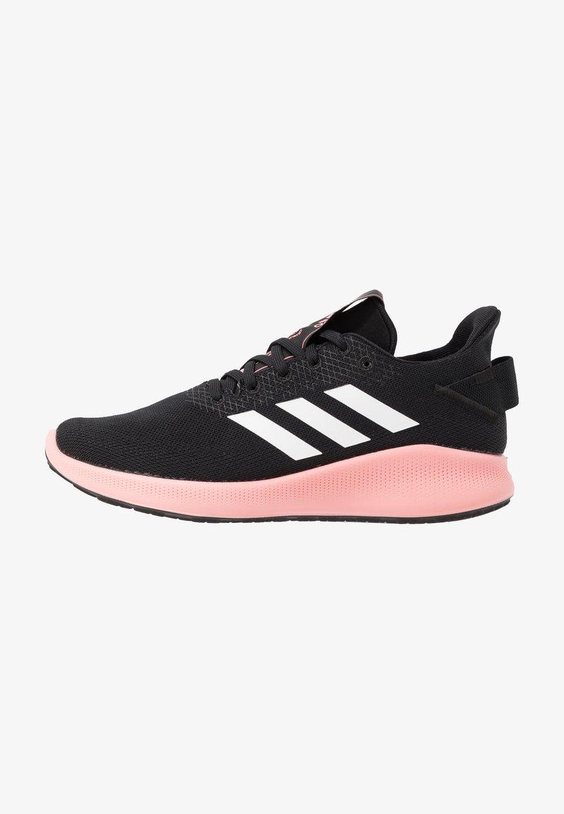 adidas Performance - SENSEBOUNCE + STREET - Neutral running shoes - core black/footwear white/glow pink
