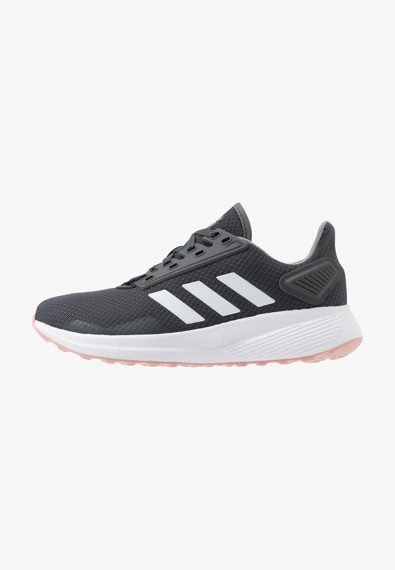 adidas Performance - DURAMO 9 - Obuwie do biegania treningowe - grey six/footwear white/pink spice