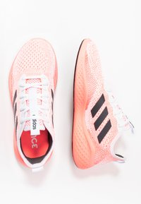 adidas Performance - FLUIDFLOW - Neutral running shoes - footwear white/grey six/signal coral - 1