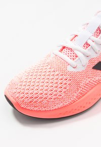 adidas Performance - FLUIDFLOW - Neutral running shoes - footwear white/grey six/signal coral - 5