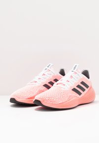 adidas Performance - FLUIDFLOW - Neutral running shoes - footwear white/grey six/signal coral - 2