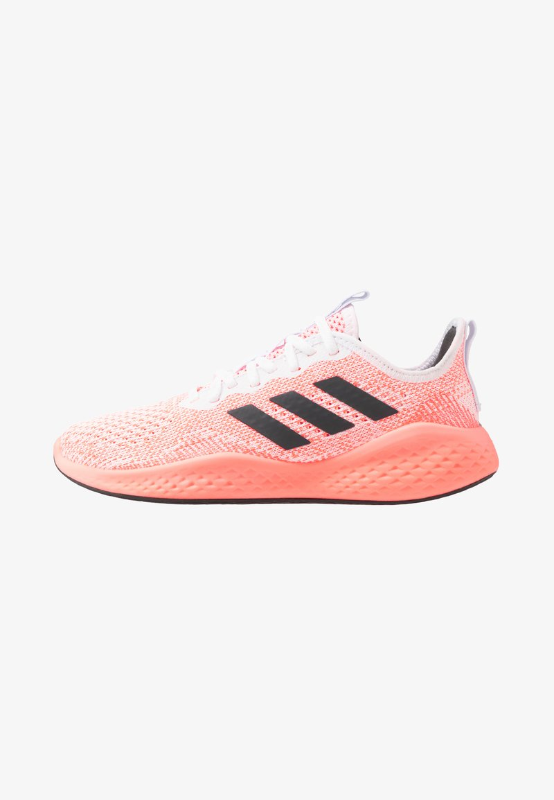 adidas Performance - FLUIDFLOW - Neutral running shoes - footwear white/grey six/signal coral