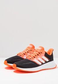 adidas Performance - RUNFALCON - Zapatillas de running neutras - footwear white/dash grey/signal coral - 2
