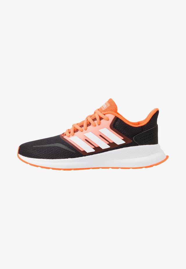 RUNFALCON - Neutral running shoes - footwear white/dash grey/signal coral
