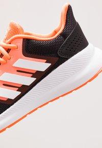 adidas Performance - RUNFALCON - Zapatillas de running neutras - footwear white/dash grey/signal coral - 5