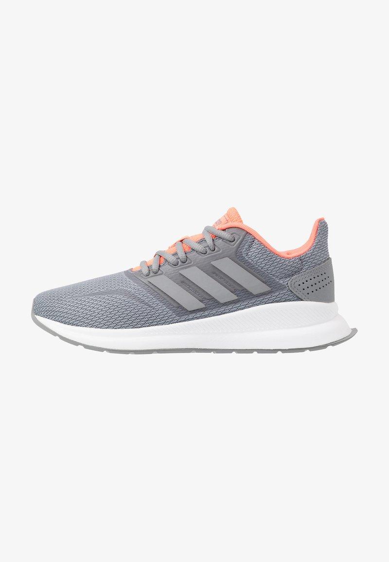 adidas Performance - RUNFALCON - Obuwie do biegania treningowe - grey/signal coral
