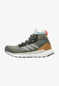 adidas Performance - TERREX FREE HIKER - Hiking shoes - grey/aluminum/green tint - 0