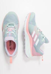 adidas Performance - TERREX TWO GORE-TEX - Obuwie do biegania Szlak - ash grey/footwear white/glow pink - 1