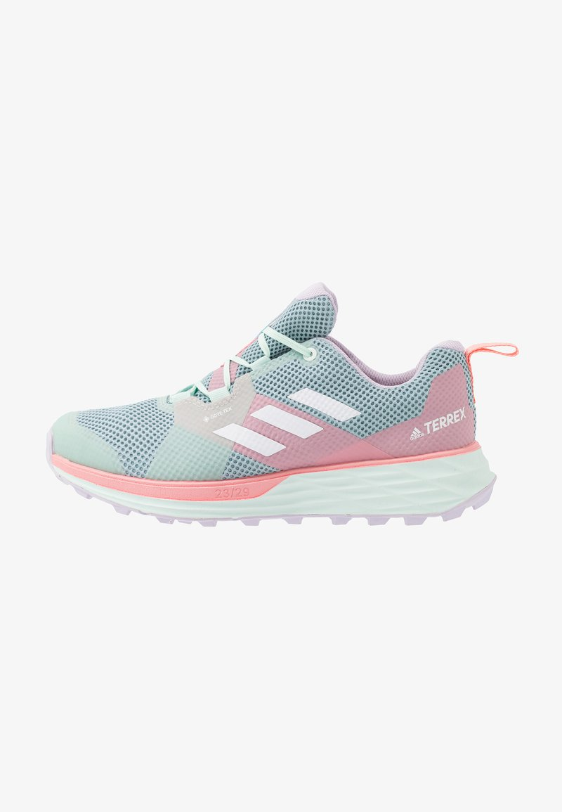 adidas Performance - TERREX TWO GORE-TEX - Obuwie do biegania Szlak - ash grey/footwear white/glow pink