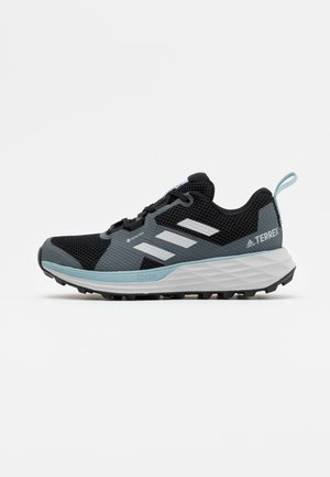 TERREX TWO GORE-TEX - Trail running shoes - core black/grey three/ash grey