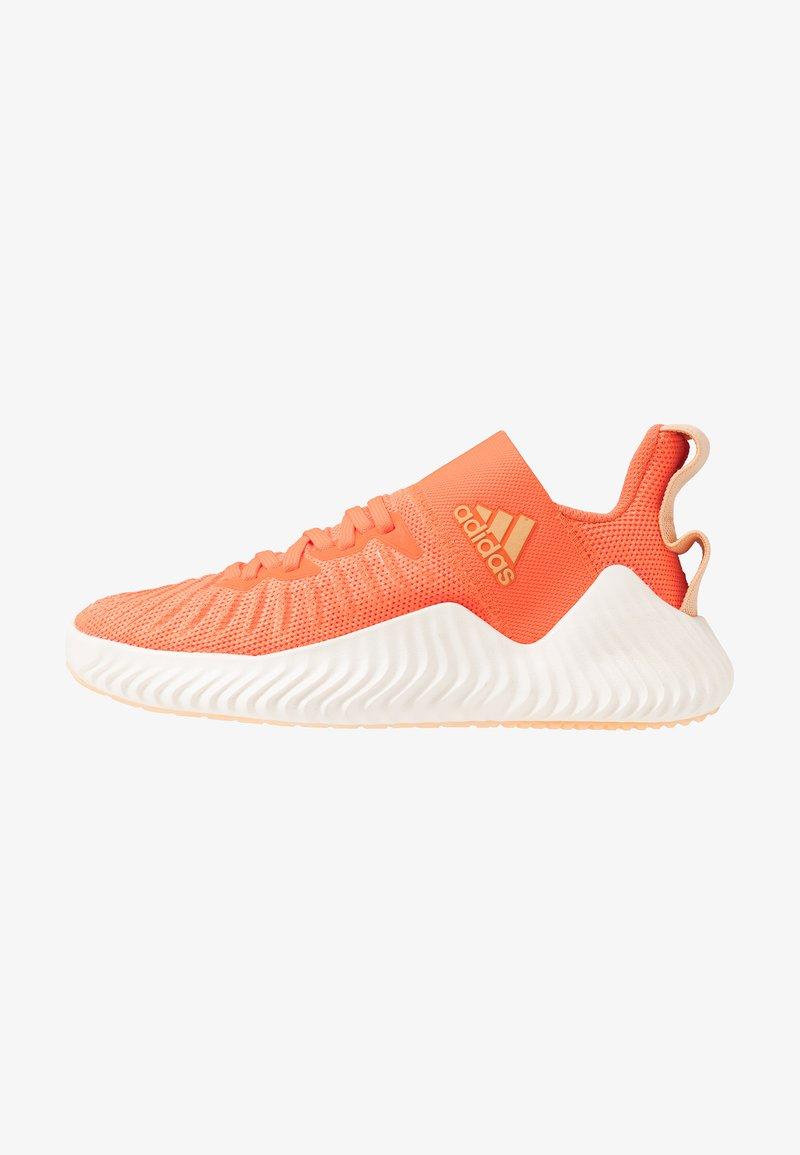 adidas Performance - ALPHABOUNCE TRAINER  - Treningssko - hi-res coral/glow orange/core white