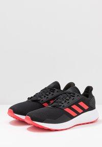 adidas Performance - DURAMO 9 - Kuntoilukengät - core black/shock red/footwear white - 2