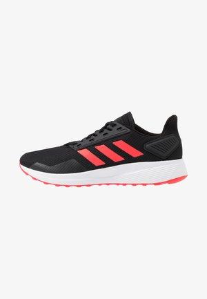 DURAMO 9 - Sports shoes - core black/shock red/footwear white