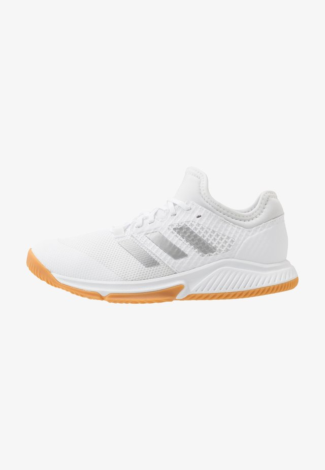 COURT TEAM BOUNCE - Handballschuh - footwear white/silver metallic