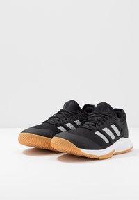 adidas Performance - COURT TEAM BOUNCE - Handball shoes - core black/silver metallic/footwear white - 2