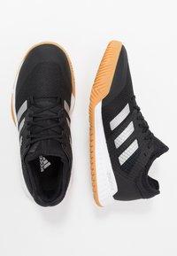 adidas Performance - COURT TEAM BOUNCE - Handball shoes - core black/silver metallic/footwear white - 1