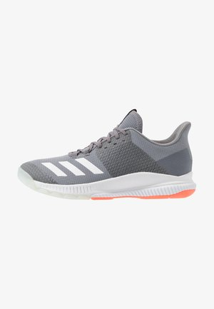 CRAZYFLIGHT BOUNCE - Volleyballschuh - grey three/footwear white/signal coral