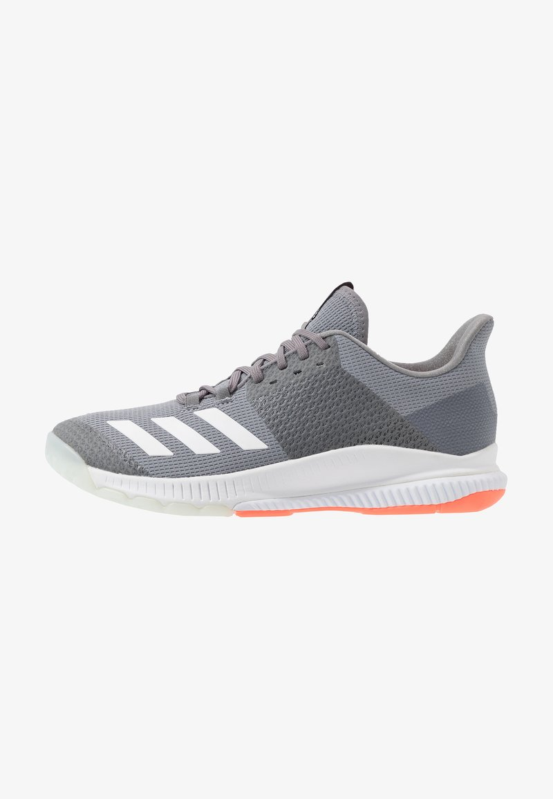 adidas Performance - CRAZYFLIGHT BOUNCE 3 - Volleyball shoes - grey three/footwear white/signal coral