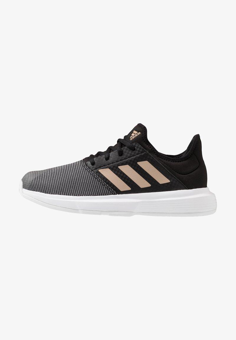 adidas Performance - GAMECOURT - Multicourt tennis shoes - core black/copper metallic/footwear white