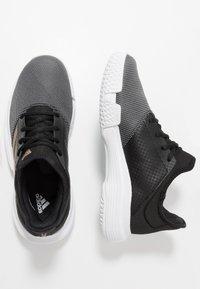 adidas Performance - GAMECOURT - Multicourt tennis shoes - core black/copper metallic/footwear white - 1