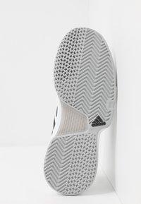 adidas Performance - COURTJAM BOUNCE - Multicourt tennis shoes - footwear white/core black/metallic silver - 4