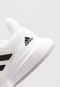 adidas Performance - COURTJAM BOUNCE - Multicourt tennis shoes - footwear white/core black/metallic silver - 5