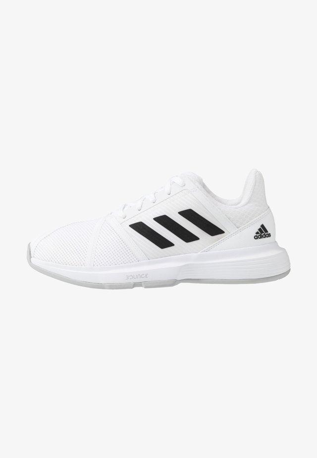 COURTJAM BOUNCE - Tennisschoenen voor alle ondergronden - footwear white/core black/metallic silver