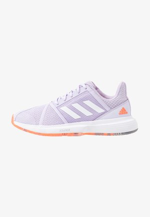 COURTJAM BOUNCE - Multicourt tennis shoes - signal coral/purple tint/tech purple