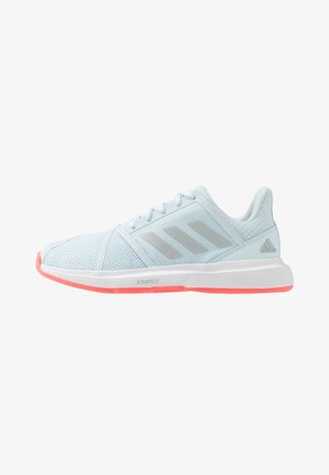 COURTJAM BOUNCE - Multicourt tennis shoes - sky tint/silver metallic/signal pink