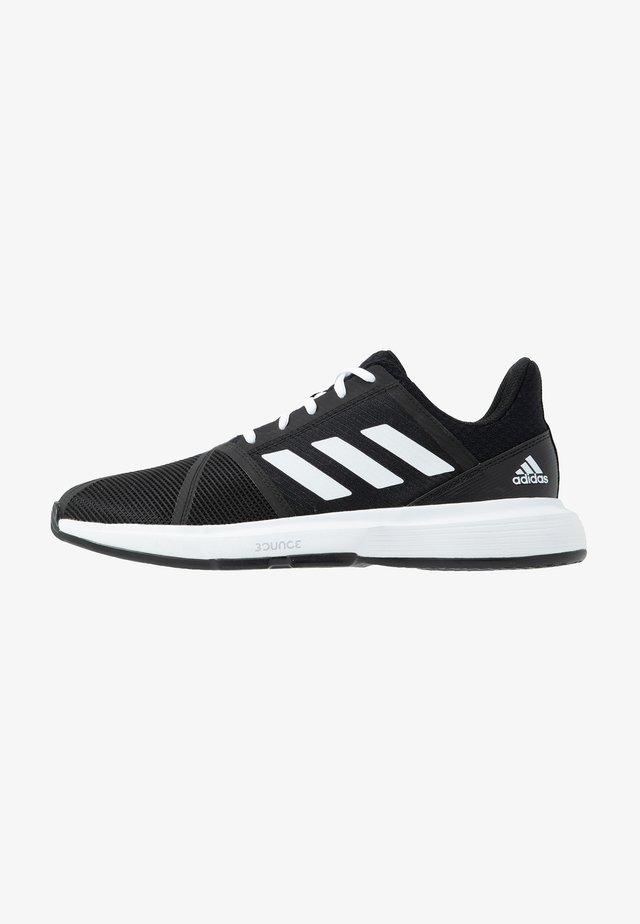 COURTJAM BOUNCE - Multicourt tennis shoes - core black/footwear white/metallic silver