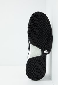 adidas Performance - COURTJAM BOUNCE - Multicourt tennis shoes - core black/footwear white/metallic silver