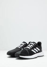 adidas Performance - COURTJAM BOUNCE - Multicourt tennis shoes - core black/footwear white/metallic silver - 2