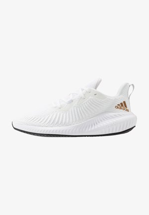 ALPHABOUNCE 3 - Obuwie do biegania treningowe - footwear white/copper metallic/core black