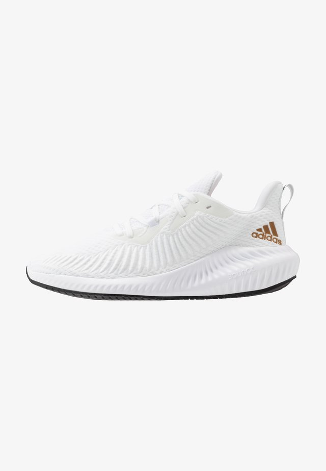 ALPHABOUNCE 3 - Obuwie do biegania treningowe - footwear white/copper metallic/core black