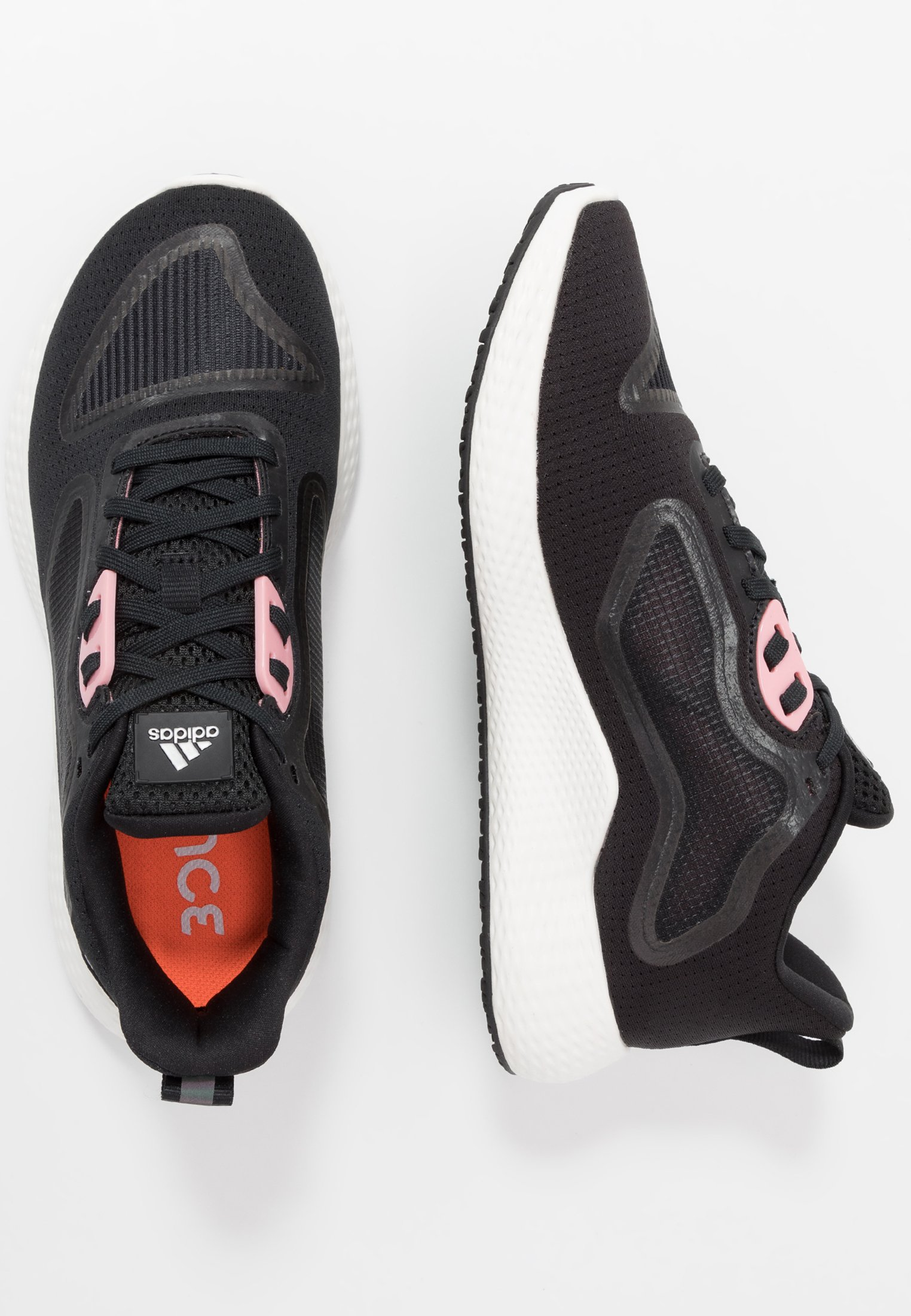 adidas Performance EDGE RC 3 - Neutrale løbesko - core black/silver metallic/glow pink