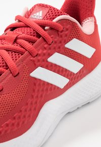 adidas Performance - FITBOUNCE TRAINER - Sports shoes - glow red/footwear white/glow pink - 5