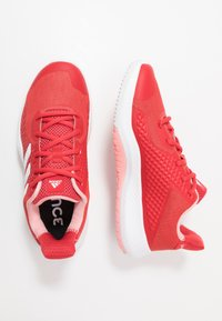 adidas Performance - FITBOUNCE TRAINER - Sports shoes - glow red/footwear white/glow pink - 1