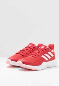adidas Performance - FITBOUNCE TRAINER - Sports shoes - glow red/footwear white/glow pink - 2