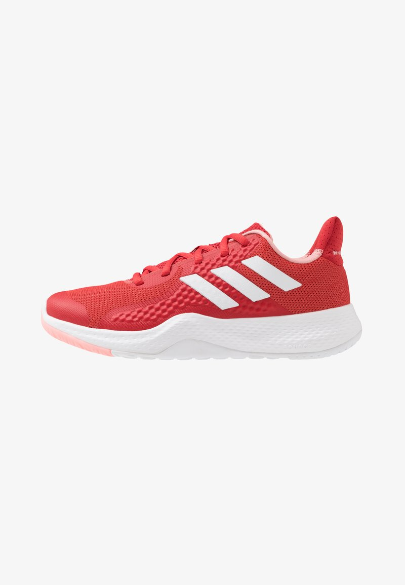 adidas Performance - FITBOUNCE TRAINER - Sports shoes - glow red/footwear white/glow pink